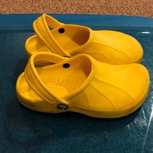 Crocs yellow clogs size 12 13 toddler boy or girl